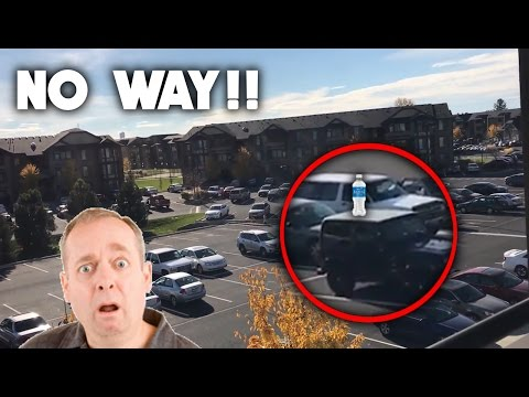 CRAZY WATER BOTTLE FLIPS IN NEW APARTMENT ( Lucky Trick Shots )