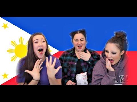 AMERICANS TRYING FILIPINO TREATS!