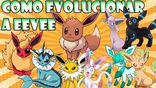COMO EVOLUCIONAR A EEVEE EN TODAS SUS EVOLUCIONES