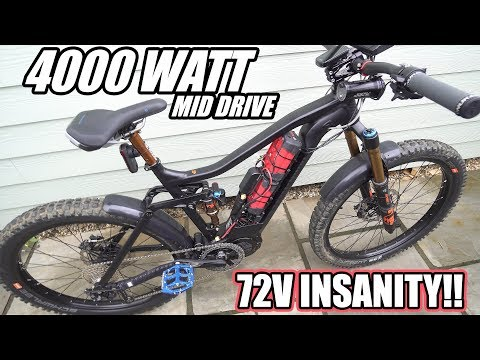 THIS 4000W MID DRIVE EBIKE IS INSANE!!! | BAFANG ULTRA HIGH POWER TESTS