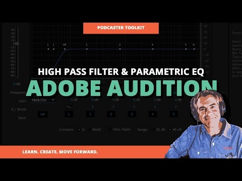 How To Apply High Pass Filter Using Parametric EQ In Adobe Audition