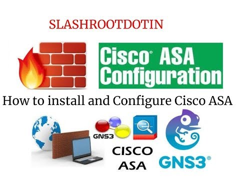 How to install and Configure cisco ASA in GNS3