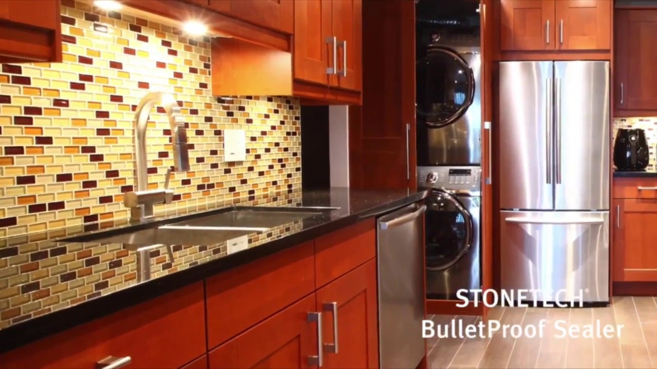 learn how to use a professional sealer to protect stone against stains