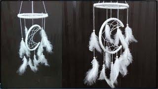 Home Decor: DIY Moon Arc Dream Catcher | Handmade Paper Crafts