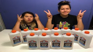 GIANT 3 COLORS OF GLUE SLIME CHALLENGE - MYSTERY EDITION