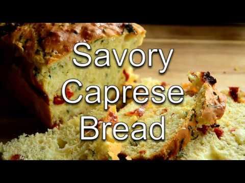 Easy, NO-Yeast, Savory Caprese Bread. Full Recipe On Willcookforsmiles.com