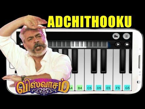 adchithooku-song-|-piano-tutorial-|-viswasam-|-ajithkumar-&-nayanthara-|-keyboard-wonder