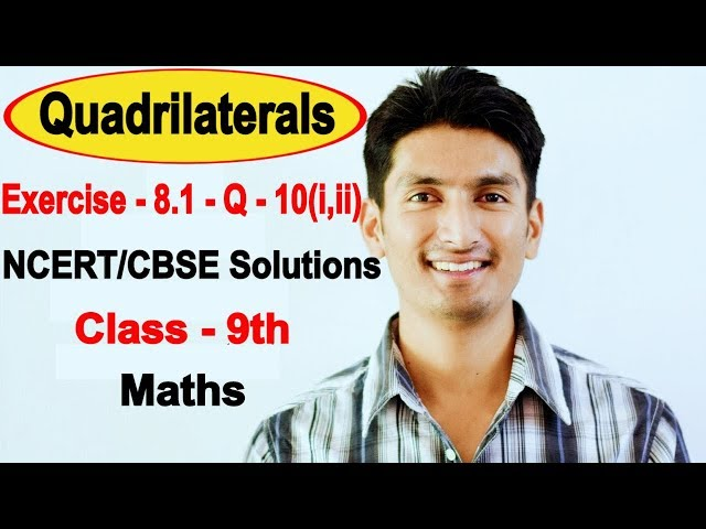 Chapter 8 Exercise 8.1 Question 10(i,ii) - Quadrilaterals Class 9 Maths - NCERT Solutions