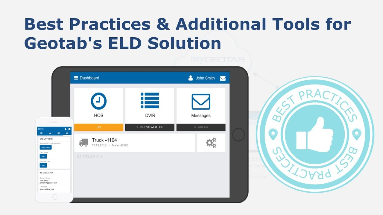 Best Practices & Additional Tools for Geotab's ELD Solution | Geotab Drive
