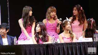 [직캠] 131025 Vizit Korea Press Conference - Apink Fancam