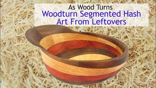 Woodturn Segmented Hash Art From Leftovers