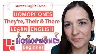 They're, Their and There | Homophones | Learn English