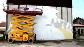 Street Art im Milchland Bayern || Artist: loomit || Projekt Schwaben