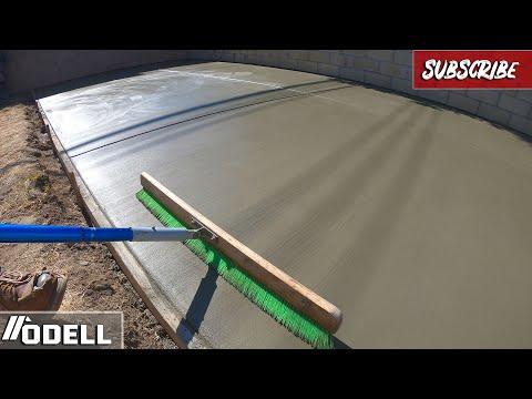 How to Pour a Massive Concrete Backyard Patio!