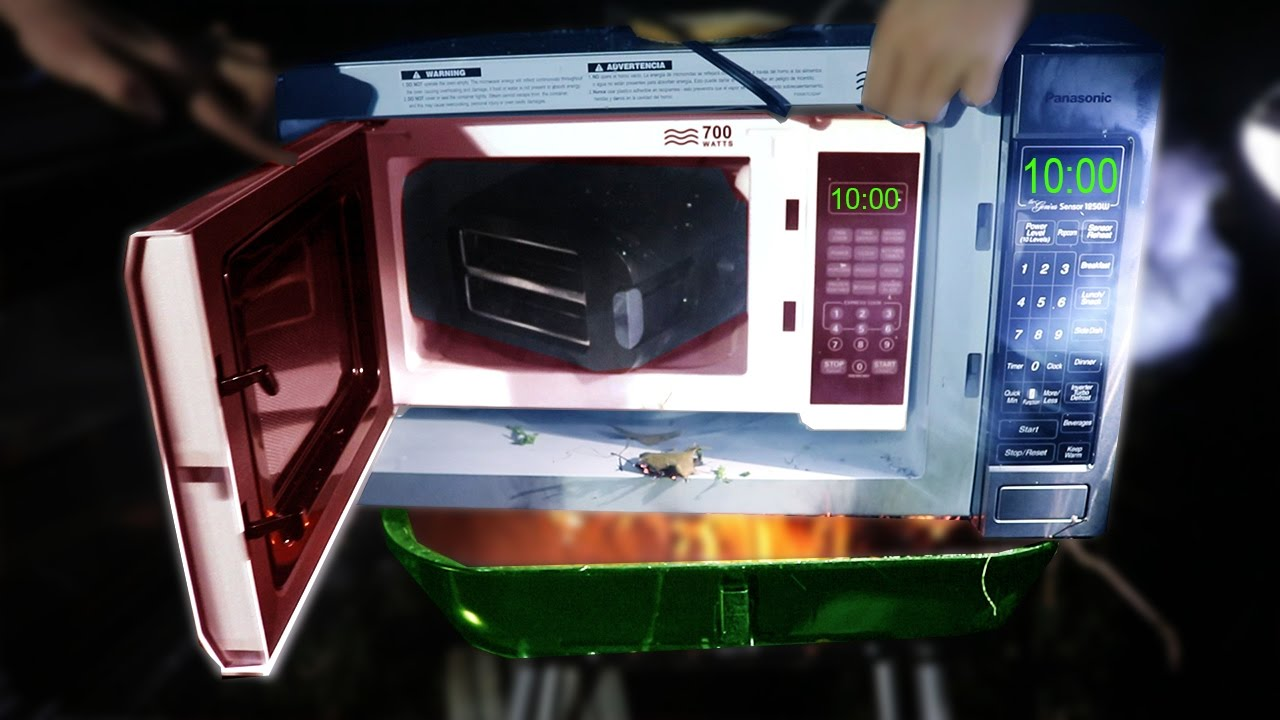 grilling a microwave microwaving a microwave microwaving a toaster toasting an iphone watching micro