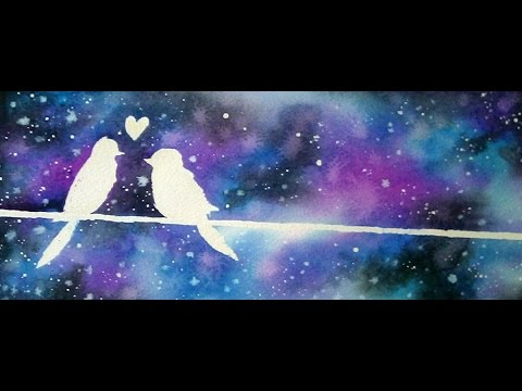 Painting A Galaxy Acrylic Youtube