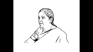 How to draw Nirmala Sitharaman face pencil drawing step by step