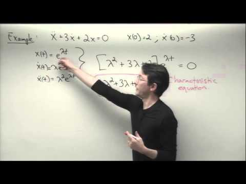 ME564 Lecture 5: Higher-order ODEs, characteristic equation, matrix systems of first order ODEs