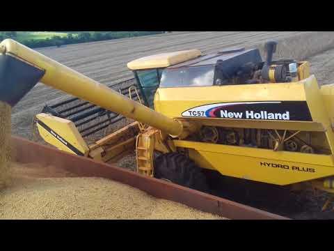 New Holland TC 57 Hydro Colhendo Soja