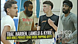LaMelo Ball, Kyrie Irving, Trae Young & James Harden Go OFF At Rico Hines Private Runs!!