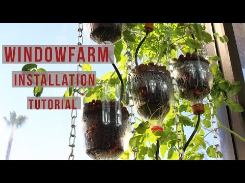 Window Farm Installation Tutorial | DIY Window Hydroponics for Any Horticulture Garden