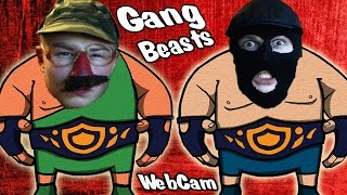 Gang Beasts - Фрост и Снейк Борцухи - С Вебкой - №2