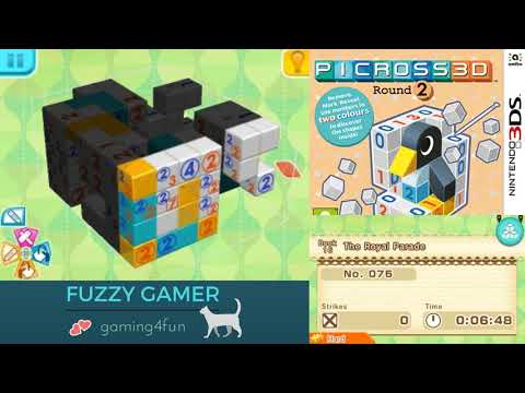 Picross 3D Round 2! Book 16 The Royal Parade Puzzle 75 Hard Mode