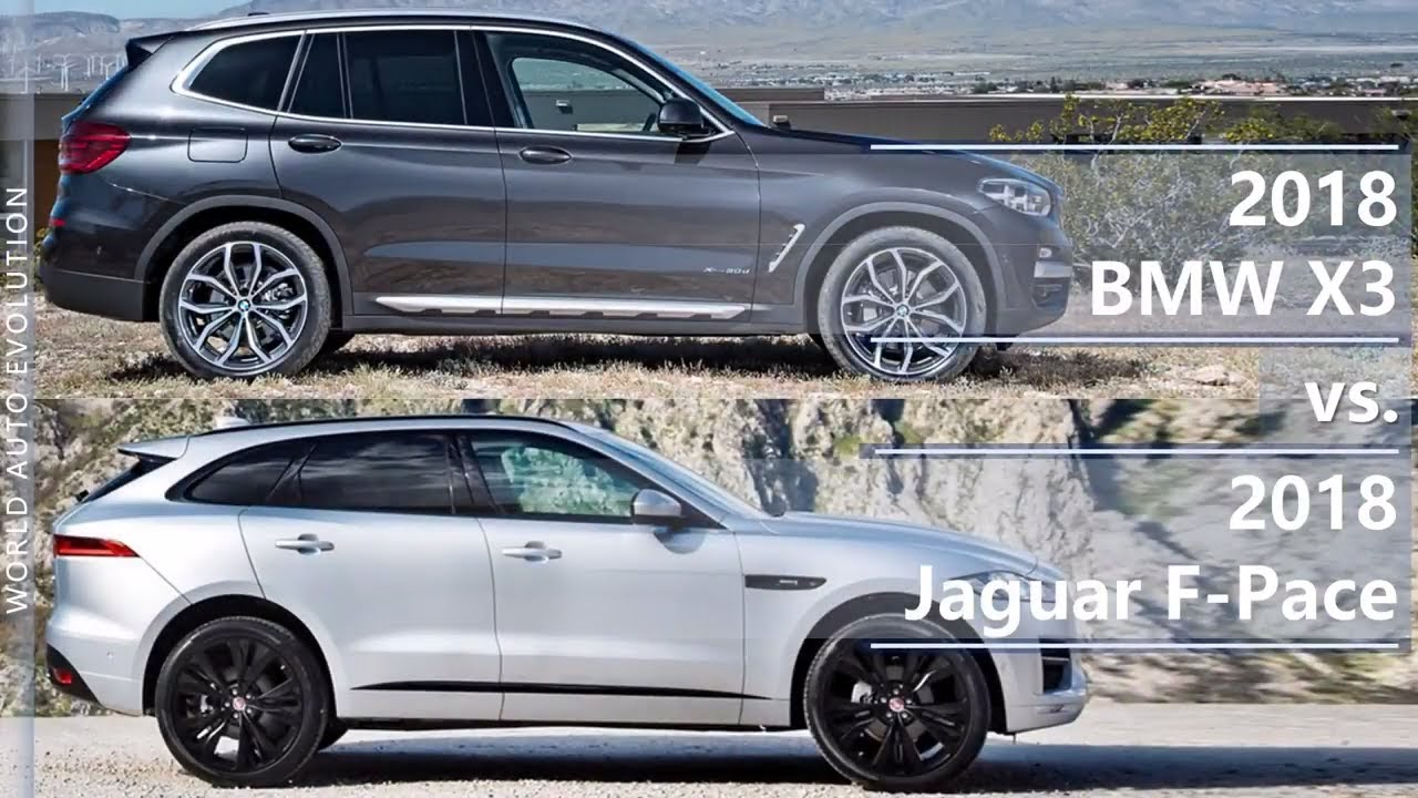 2018 bmw x3 vs 2018 jaguar f pace technical comparison. Black Bedroom Furniture Sets. Home Design Ideas