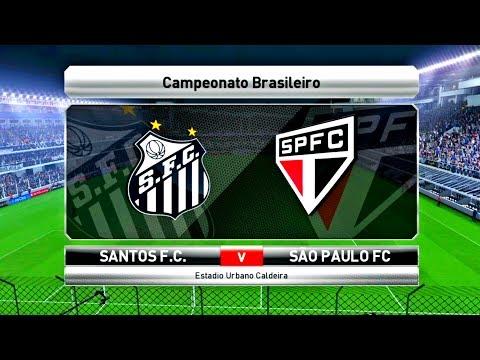 SANTOS X SÃO PAULO ( 4K - ULTRA HD ) VILA BELMIRO - PES 17