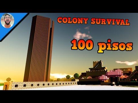 TORRE DE 100 PISOS DE ALTURA | COLONY SURVIVAL #7 | Gameplay Español |🐟LaPeceraTONTA🐟|