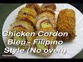 Chicken Cordon Bleu - Filipino Style (No oven)