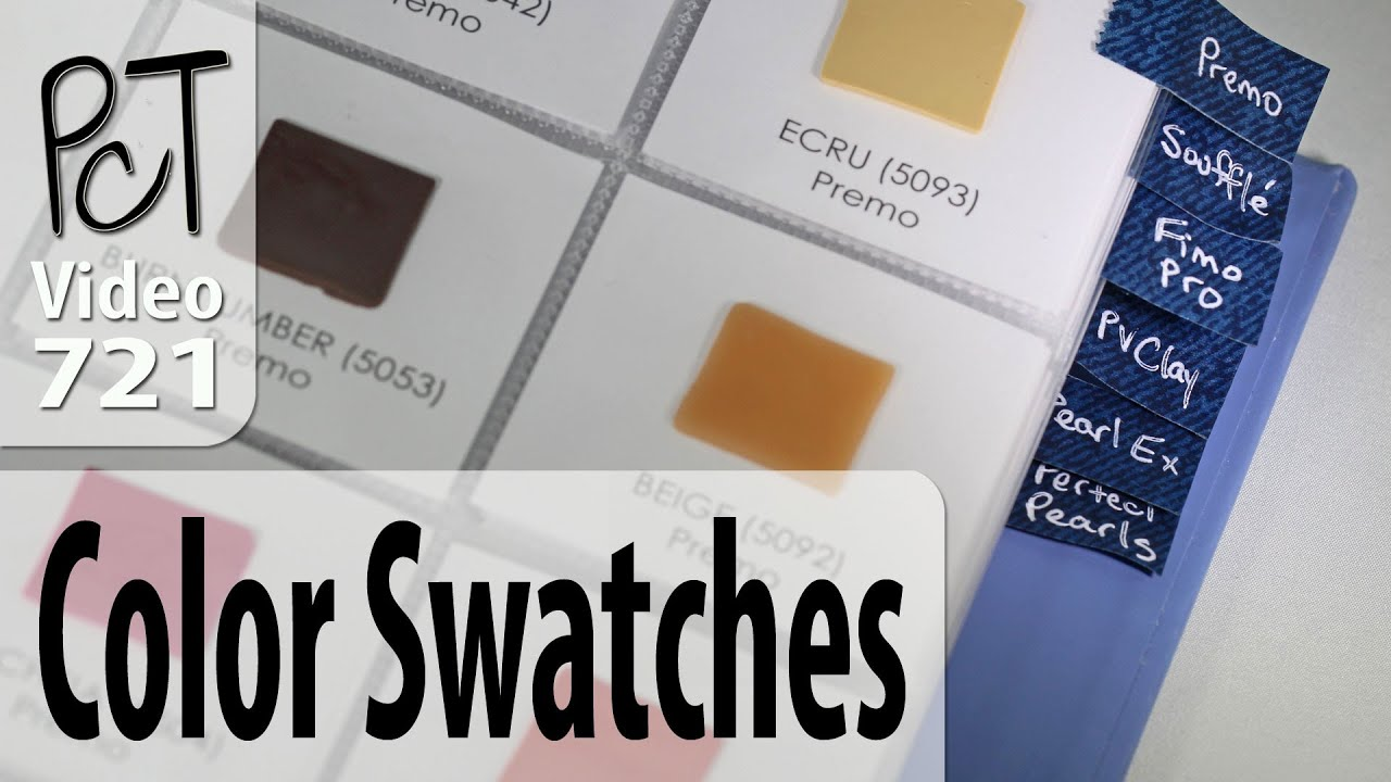 Polymer Clay Color Swatch Book - YouTube