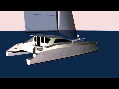WN - g force 1700 cad rendering schionning design kit catamaran
