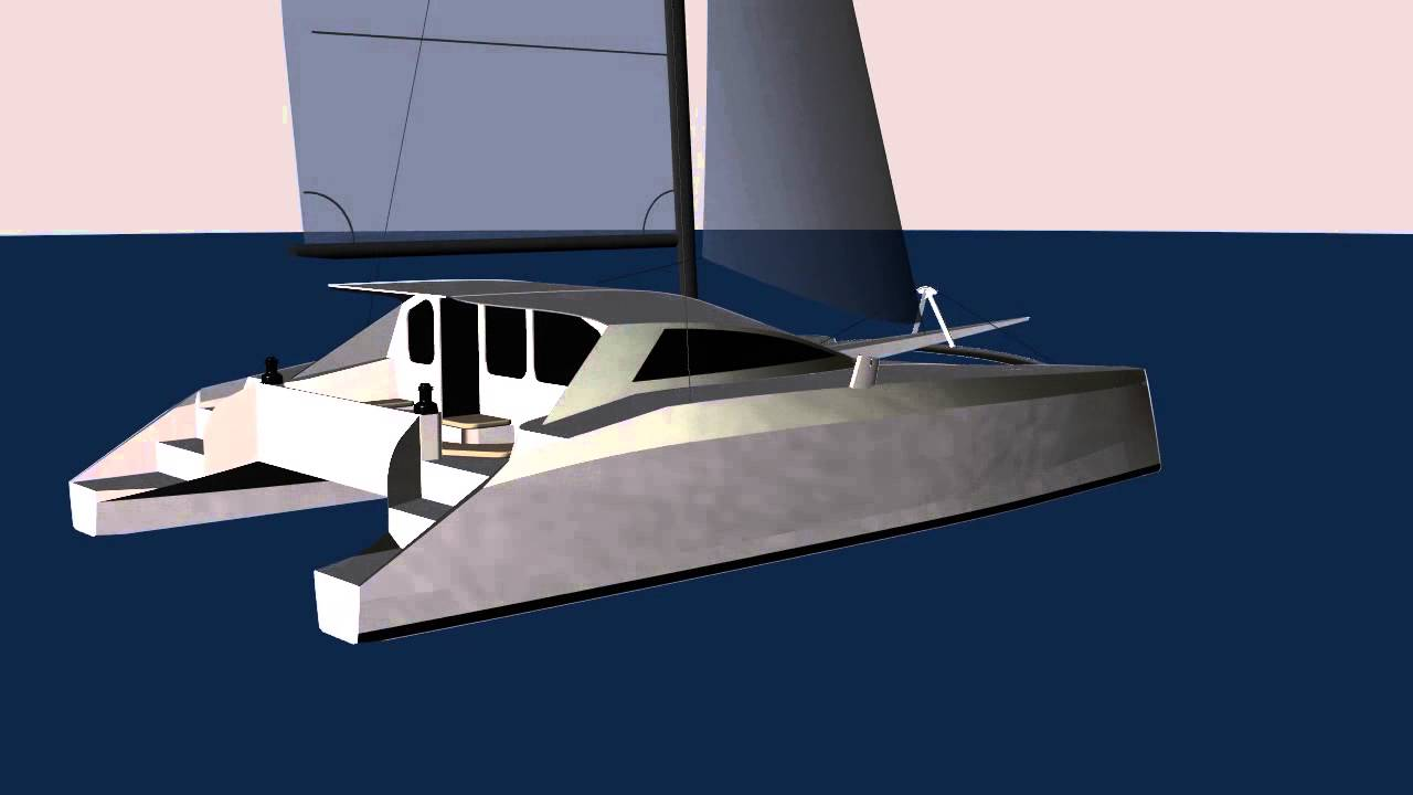 G-Force 1200 CAD Rendering - Schionning Designs - Sailing Catamaran - YouTube