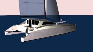 G-Force 1200 CAD Rendering - Schionning Designs - Sailing Catamaran