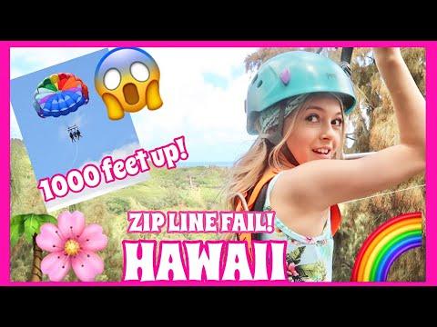 ZIP LINE FAIL    HAWAII TRAVEL VLOG   Oahu   Coco Quinn