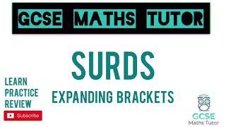 Surds (Part 4) Expanding Double Brackets - 10 Minute Maths Series | GCSE Maths Tutor