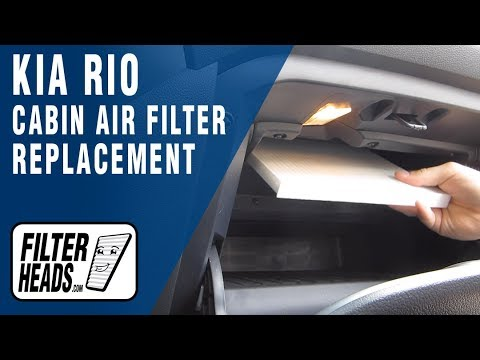 How to Replace Cabin Air Filter 2014 Kia Rio