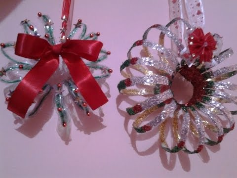 best out of waste plastic christmas decoration ideas - Christmas Decoration