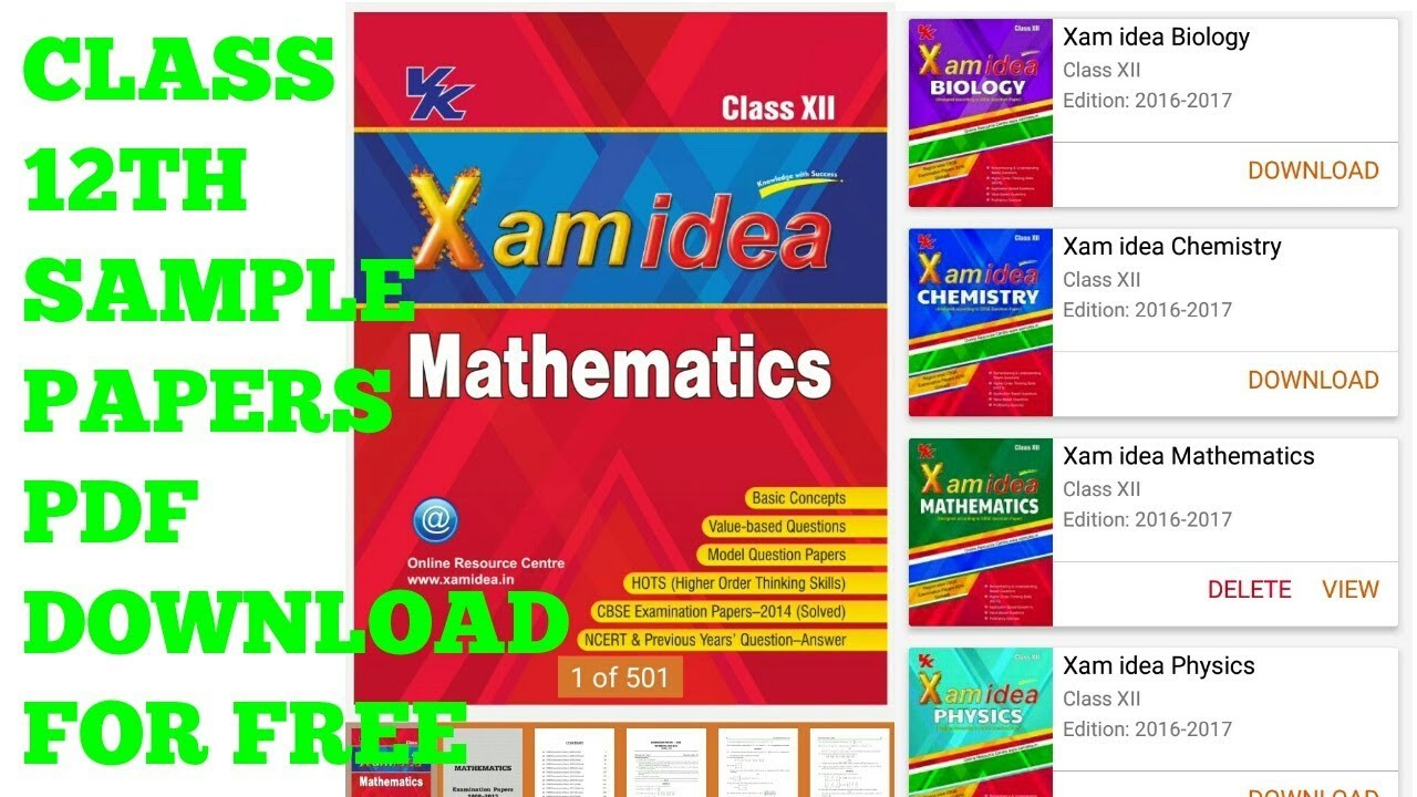 Xam Idea Class 9 Maths Term 2 Pdf