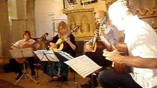Cuban Landscapes with rain by Leo Brouwer played by Jacob Warn, Andrew, Debbie and Arne Brattland