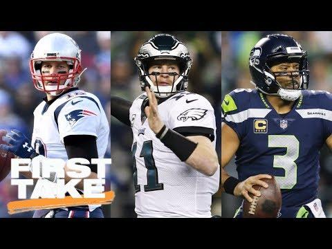 Tom Brady, Carson Wentz, Russell Wilson: Which QB is NFL MVP favorite? | First Take | ESPN