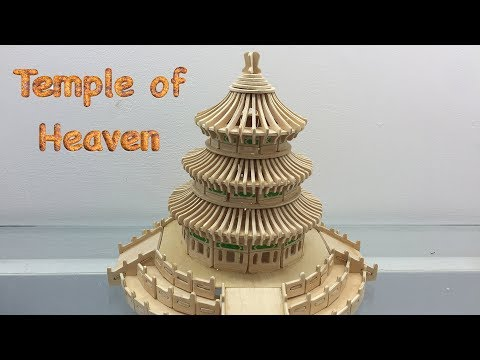 DIY 3D Wooden Puzzle Temple of Heaven