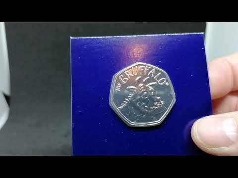 The Gruffalo 50 pence British coin.