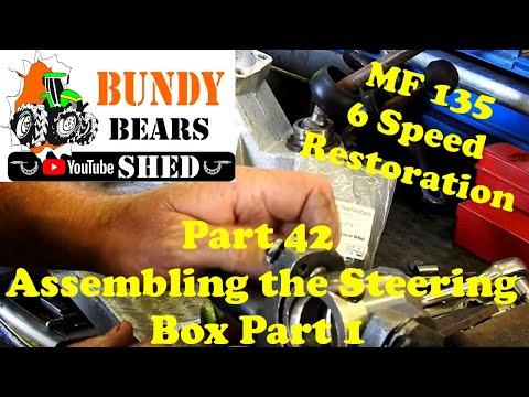 MF135 6 Speed Restoration #42 Assembling The Steering Box Part1