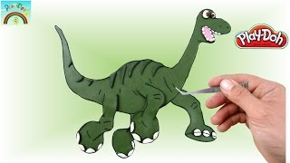 Play doh - How to make ARLO (Good Dinosaur) - Play Doh Kids Channel
