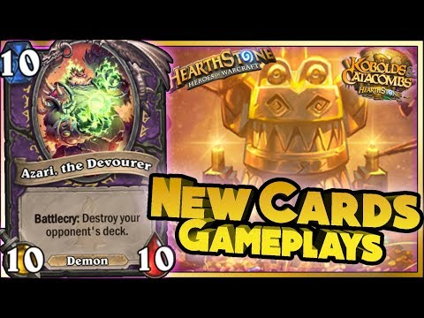 Thumbnail: Hearthstone - NEW CARDS GAMEPLAYS KOBOLDS & CATACOMBS - WTF Funny and Lucky Moments
