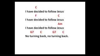 """I have decided to follow Jesus""  - ukulele chords & lyrics"