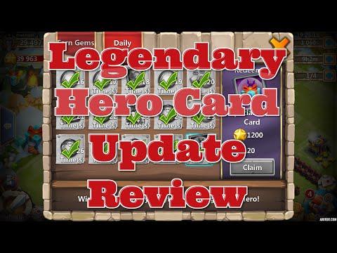 Castle Clash Free Legendary Hero Card/Update Info