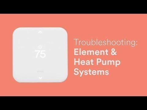 Vivint Smart Thermostat Wiring Diagram Kenwood Home Stereo Troubleshooting Element With Heat Pump System Youtube